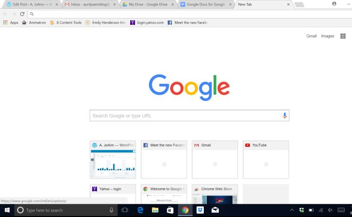 Google Search screen