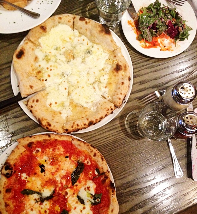 Wood-fired Neapolitan style pizza