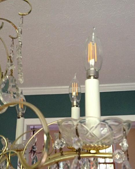 photo of LED chandelier bulbs