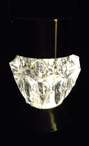 Photo of hanging solar lamp