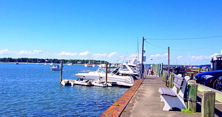 Photo of Sag Harbor showing dock and boats