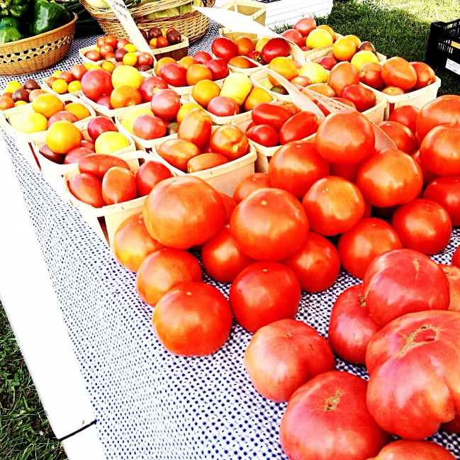 Photo of red and yellow tomatoes