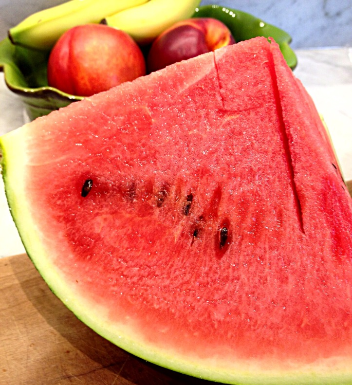 Photo of 1/4 of a watermelon