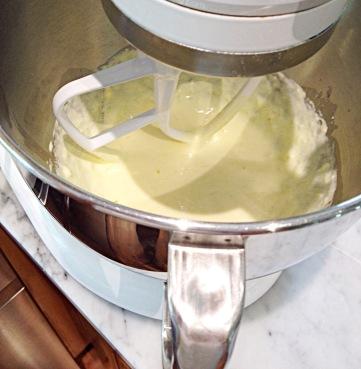 photo of mixing dough