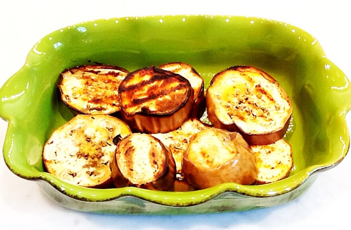 Photo of grilled eggplant