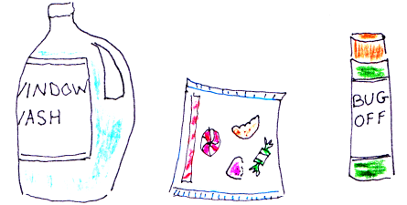 drawings of non-food goods