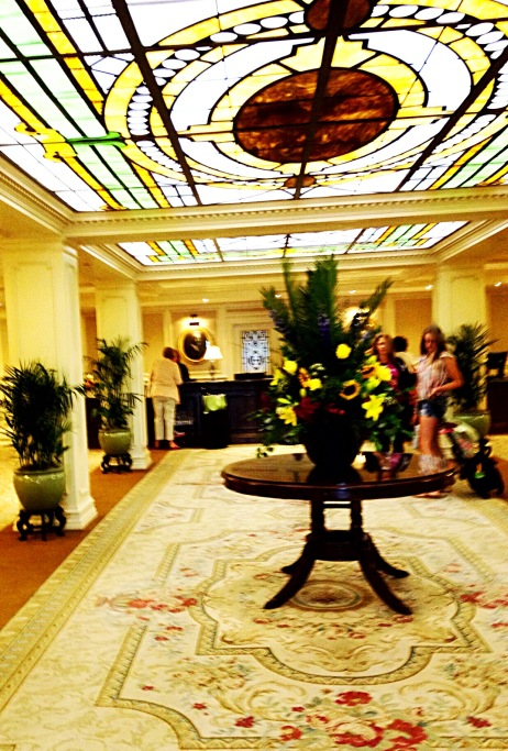 photo of the first floor lobby
